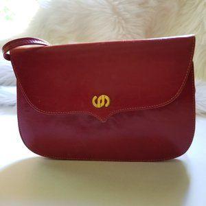 Vintage Charles Jourdan Paris Small Red Bag